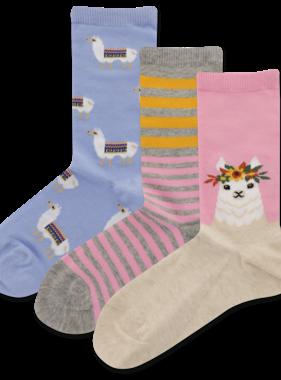Hot Sox Sox LLAMA 3pk Socks