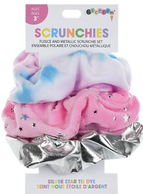 Iscream Silver Star Tie Dye Scrunchie Set 880-291