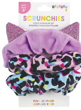 Iscream Pink Leopard Scrunchie Set 880-279