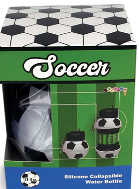 Iscream Soccer Collapsible Water Bottle 870-164