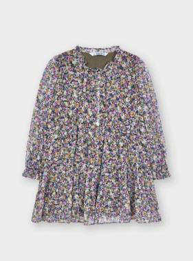 Mayoral 4928 26 Printed Dress, Lilac