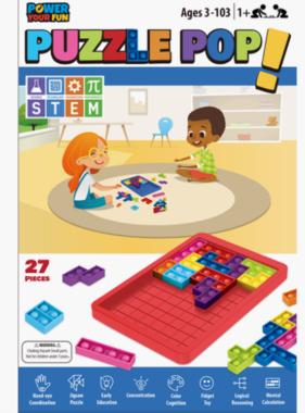 Bubble Pop Fidget 27 Pieces STEM Learning Puzzle Pop  RED