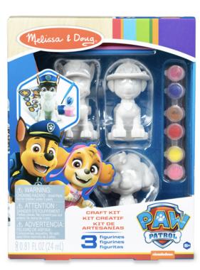 Melissa & Doug Paw Patrol Craft Kit Pup Figurines 33265