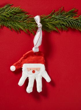 Mudpie 16700026 Santa Handprint Ornament