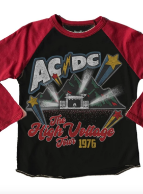 Rowdy Sprout AC/DC Raglan Tee