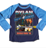 Rowdy Sprout Bob Dylan Raglan Tee, Blue