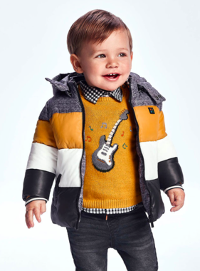 Mayoral 2377 25 Graphic Sweater Guitar, Ochre