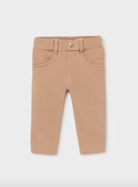 Mayoral 560 65 Baby Girl Basic Fleece Trousers, Camel