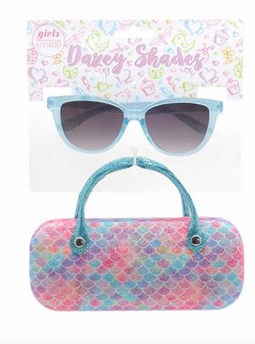 Hang Ten Aqua Sunglasses/Mermaid Scales Case DST12A
