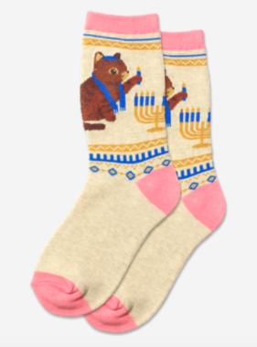Hot Sox Sox Lighting The Menorah Socks - Pink