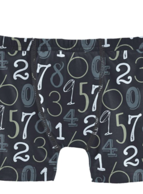 Kickee Pants Print Boxer Brief-Deep Space Math