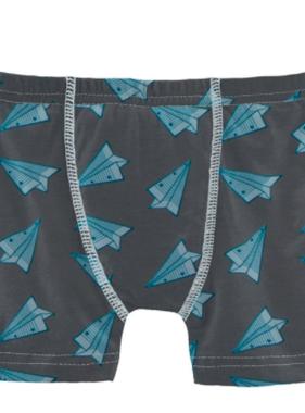 Kickee Pants Print Boxer Brief-Paper Airplanes
