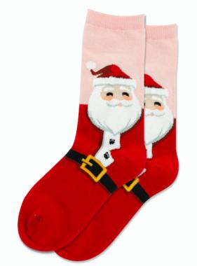 Hot Sox Sox Santa Socks - Blush