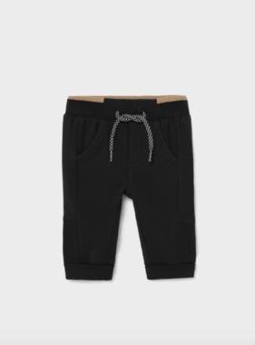 Mayoral 719 52 Fleece Basic Trousers, Black