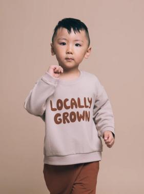 Greige The Bamboo Fleece Sweatshirt, Mushroom