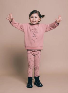 Greige The Bamboo Fleece Sweatshirt, Pink Frost