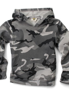 Wes And Willy 7794 Camo Fleece Hoodie, Black