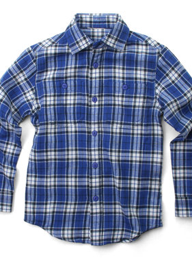 Wes And Willy 7784 Brushed Plaid Shirt, Blue Moon