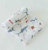 Little Unicorn Cotton Muslin Swaddle Single - Shark UB0171