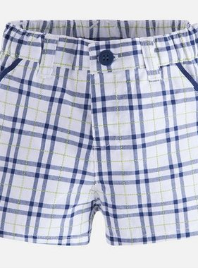Mayoral 1216 064 Navy Checked Shorts