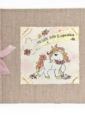 Baby Memory Book Baby Memory Book - Unicorn Born To Sparkle