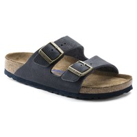Birkenstock Arizona Steer Indigo Leather Soft Footbed