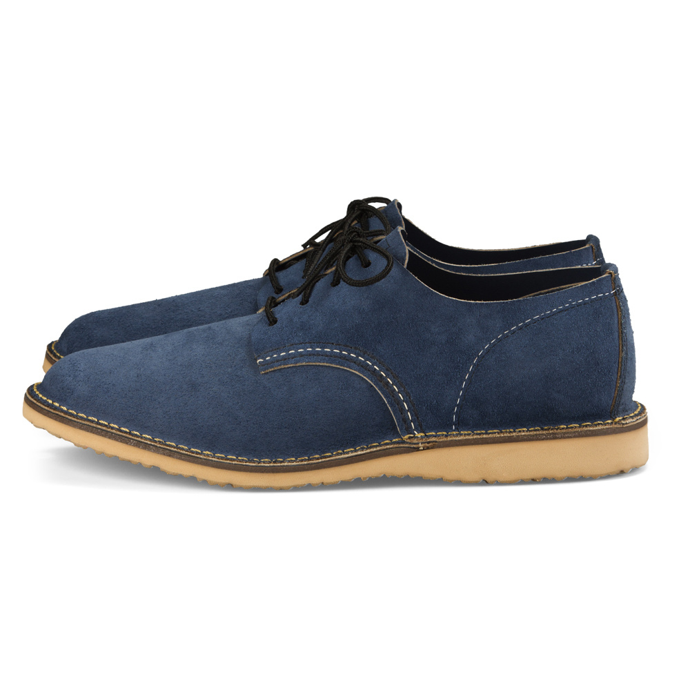 Red Wing Weekender Oxford Blueberry Muleskinner Leather 3305