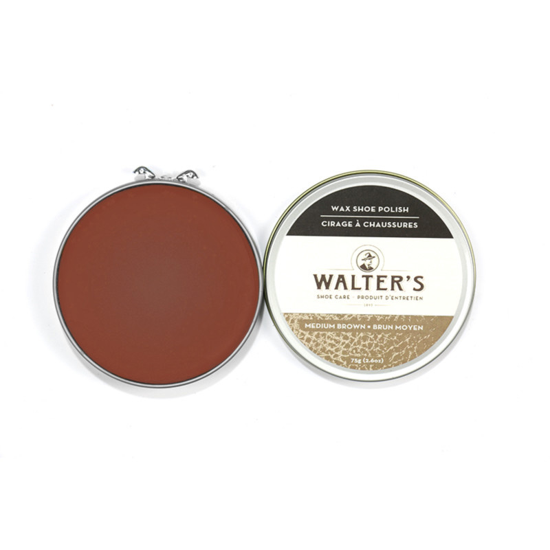 Walter's Wax Shoe Polish Medium Brown