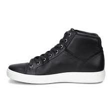 Ecco Soft 7 High Top Black Men 430024 01001