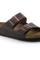 Birkenstock Arizona Havana Leather Soft Footbed Narrow 452761