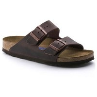 Birkenstock Arizona Havana Leather Soft Footbed Narrow