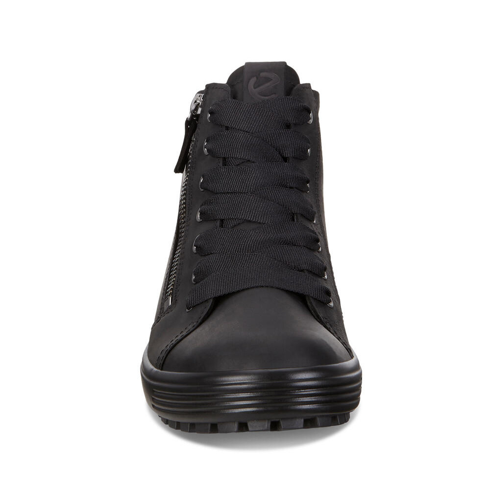 Ecco Soft 7 Tred Black Oil Nubuck 450163 02001
