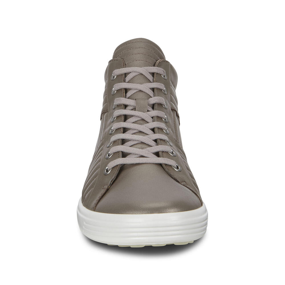 Ecco Soft 7 High Top Stone Metallic 440483 51147