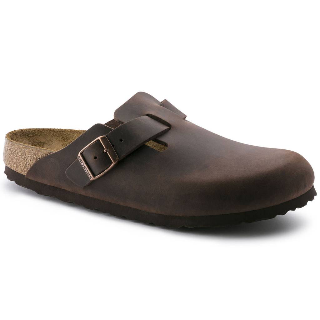 Birkenstock Boston Havana Oiled Leather Narrow 860133
