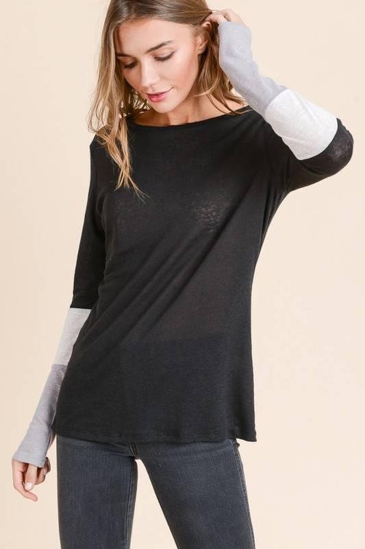 Color Block Sleeve Top