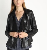 Faux Distressed Leather Jacket