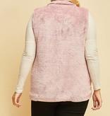 Mauve fuzzy vest