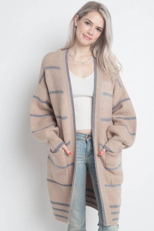 Thin Stripe Cardigan