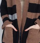 Striped Midi Cardigan