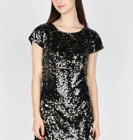 Cutout Back Sequin Dress