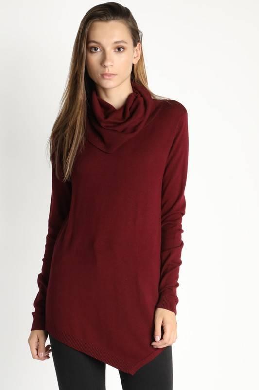 Asymmetric Tunic Sweater