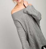 Oversized Boatneck Pullover