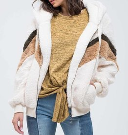 Chevron Fur Zip Up
