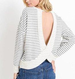 Stripe Open Back Top