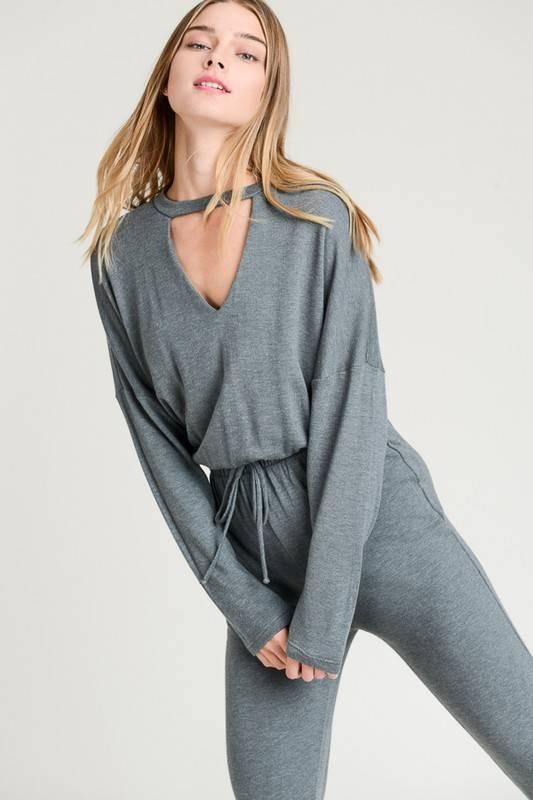 Keyhole Knit Jumpsuit