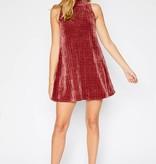 Mock Neck Chenille Dress