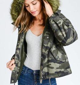 Fur Lined Camo Jacket