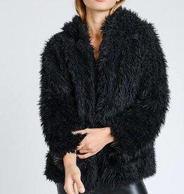 Fuzzy Hooded Coat
