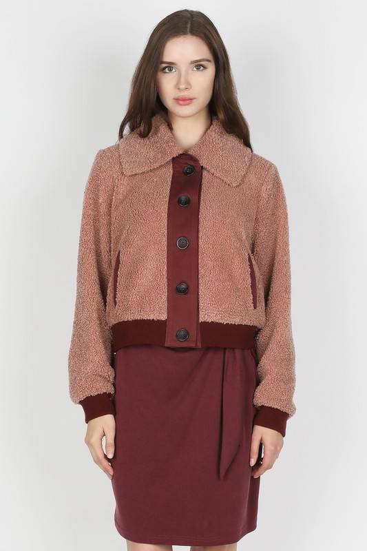 Mauve Fur Jacket
