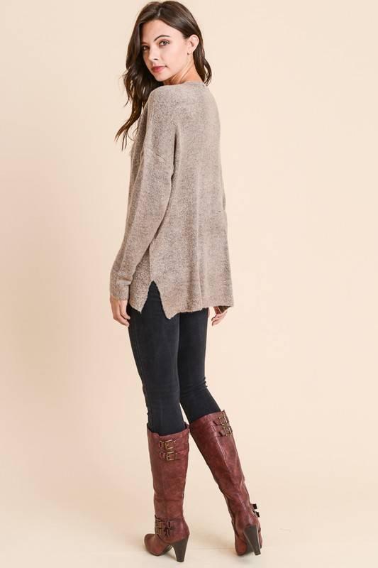 Deep V Neck Sweater
